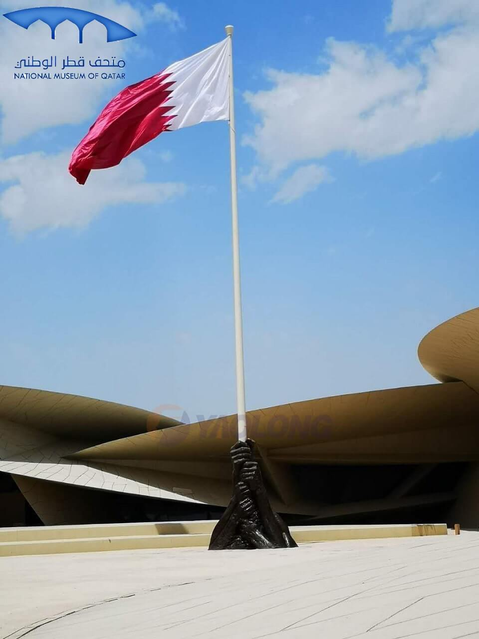 20 Meter Stainless Steel Flagpole Supplied To Qatar National Museum