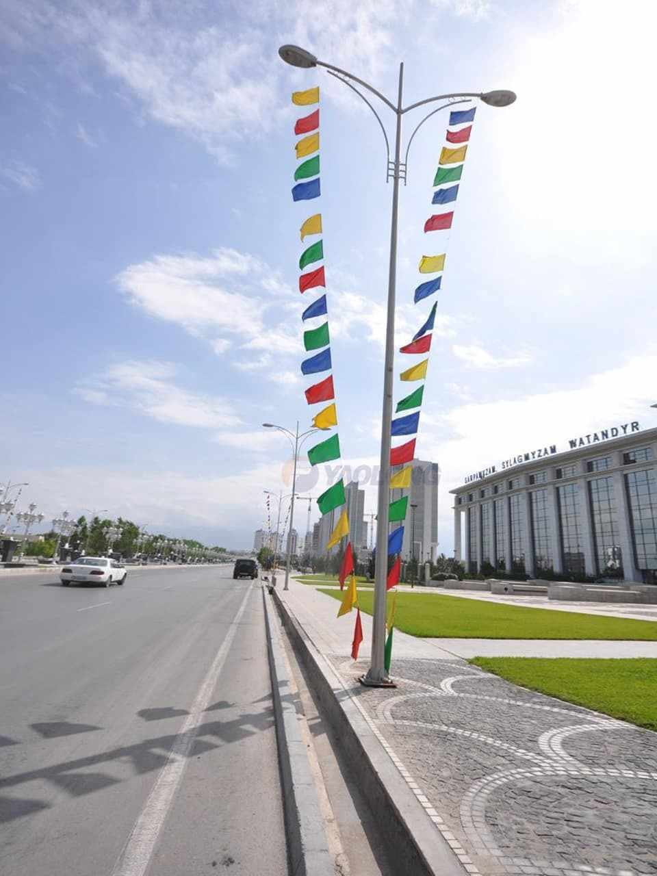 3000 nos of 12meter stainless steel light poles supplied to turkmenistan