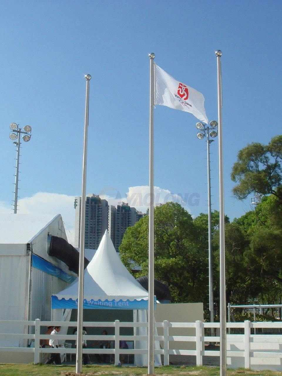 12 meter aluminum flagpole supplied to the Hong Kong Jockey Club