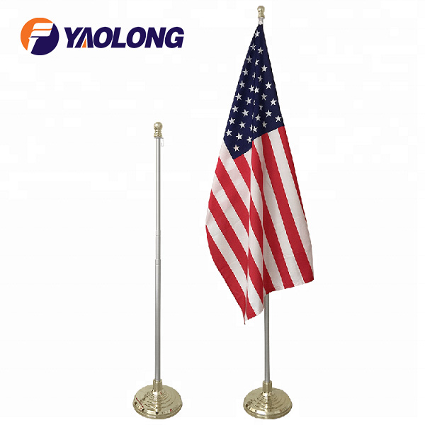 Super Tough Indoor American Flag And Flagpole With Single Base