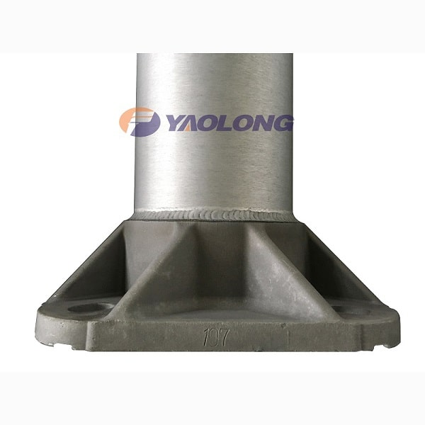 round tapered light pole base plate