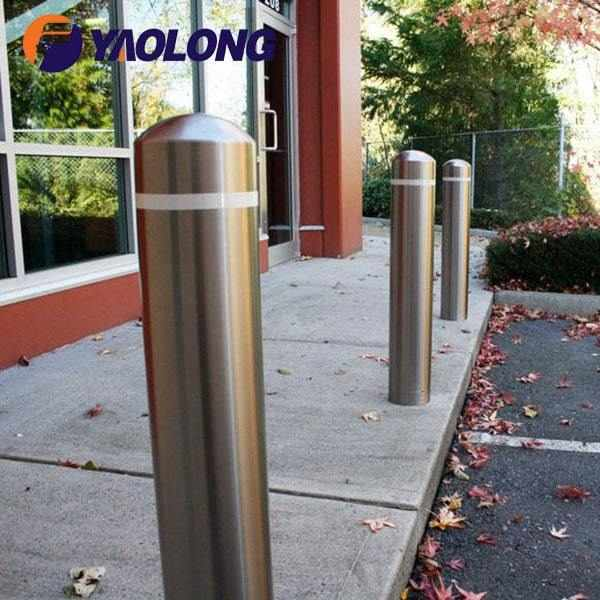 semi dome top bollard