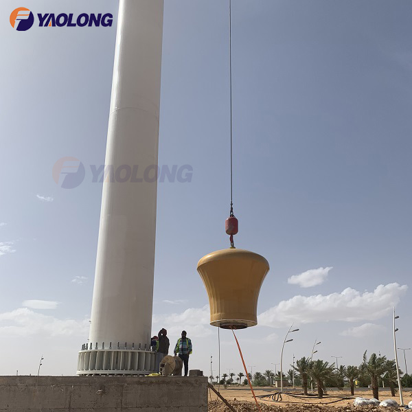 stainless steel 100meter  big flagpole