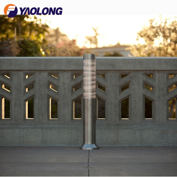 stainless steel modern led bollard