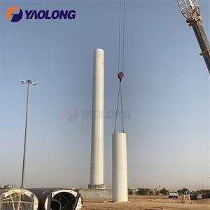 328ft stainless steel large flagpole