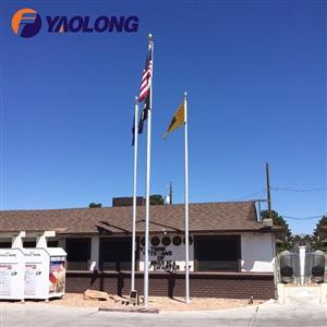 commercial external halyard flagpole