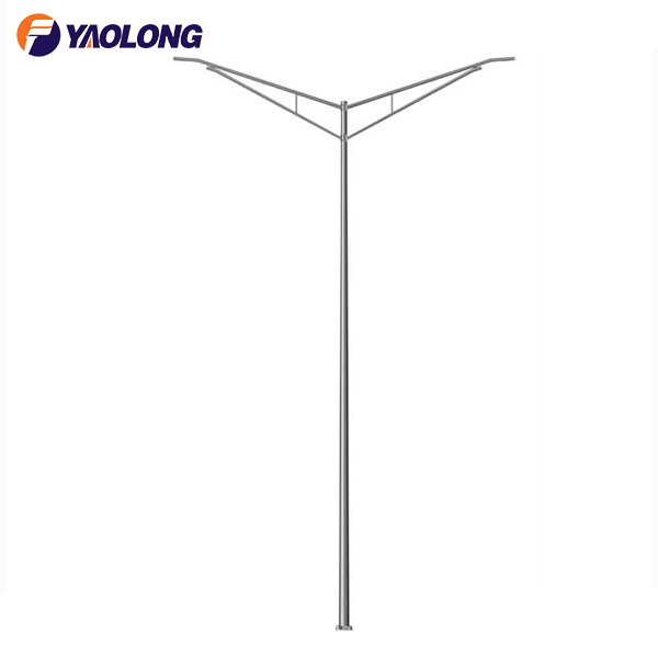 double arm highway light pole
