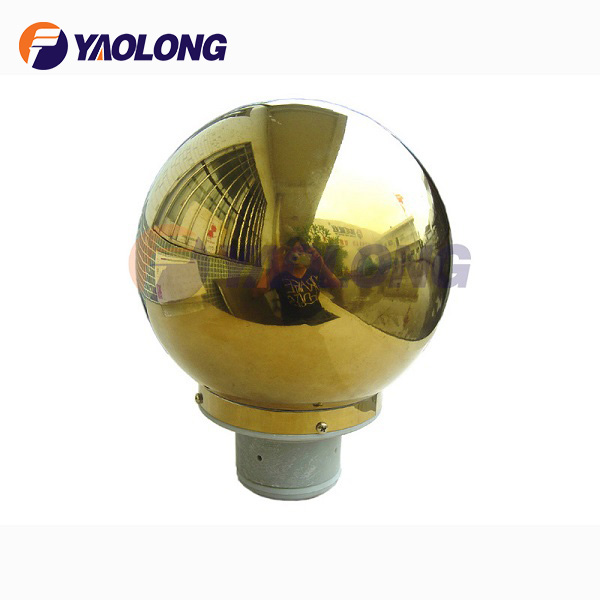 gold titaum top ball finials