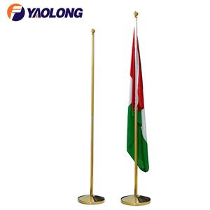 indoor flag pole and base