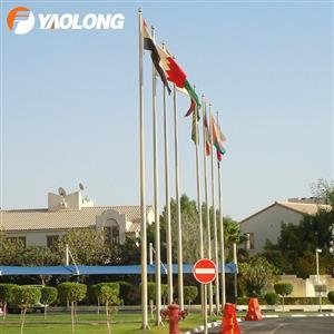 stainless steel external halyard flagpole