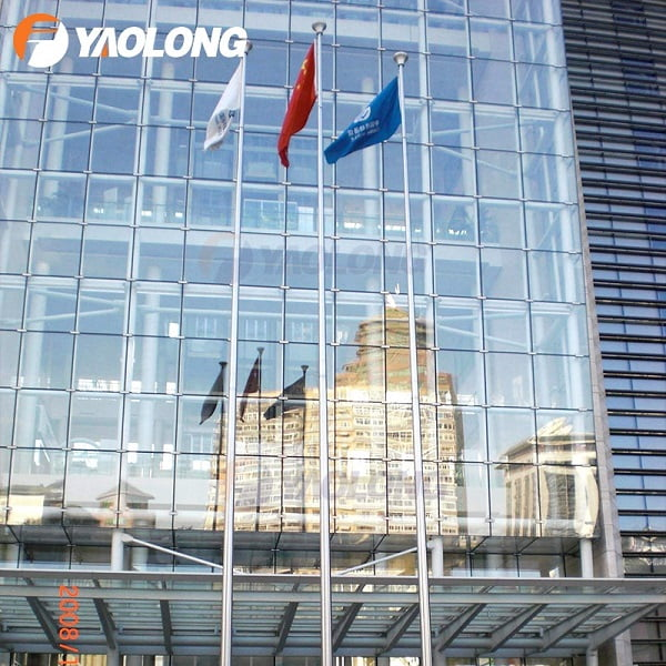 30 ft Stainless Steel External Halyard Flagpole,Yaolong Flagpole Manufacturers