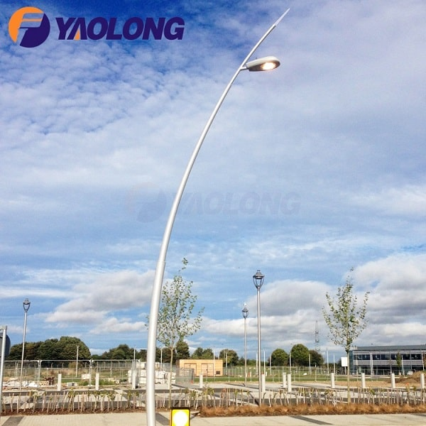 wholesale aluminum curved customized street light pole