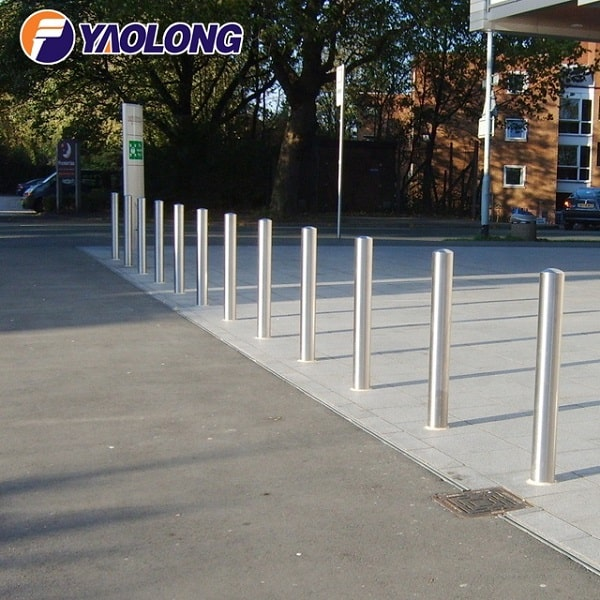 mirror polish dome top stainless steel outdoor bollard