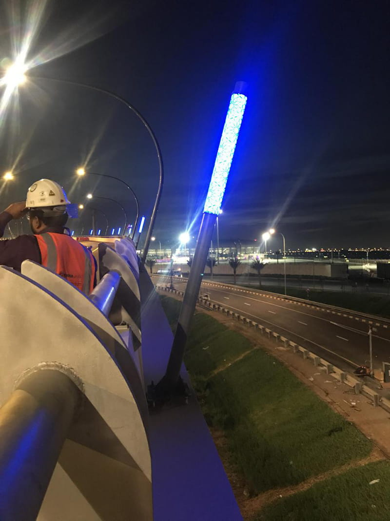 Oman Muscat International Airport Landscaping Light Pole Project in 2017 02