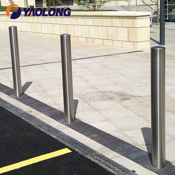 semi dome stainless steel bollard