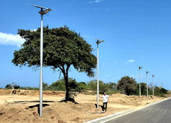 Aluminum Gourd Shape Light Poles Supplied to Bucaramanga,Columbia