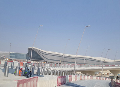 Yaolong Flagpole Manufacturers Cooperation Project With Abu Dhabi International Airport